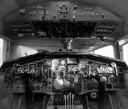Im Cockpit der Flugzeuge stockbild