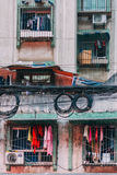 22 im Dezember 2015 qing Chong - die nebelige gedrängte Stadt, lokales Gebäude I stockbilder