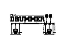 IM DRUMMER. CAN BE USE FOR T SHIRT OR LOGO LESSON Stock Image