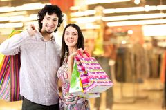 Im Einkaufszentrum Lizenzfreie Stockbilder