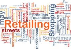 Im Einzelhandel verkaufen der Wortwolke Lizenzfreies Stockfoto