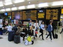 Im Flughafenabfertigungsgebäude Schottland Lizenzfreies Stockfoto