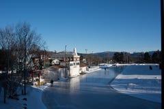 Im Freien Eis-Eisbahn Lizenzfreie Stockbilder