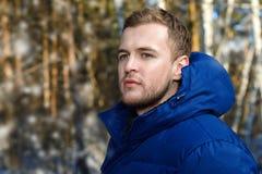 Im Freien männliches Portrait Stockfotos