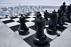 Im Freien spielendes Schach Lizenzfreies Stockfoto