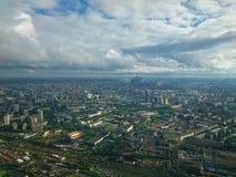 Im Freien, Tag Ansicht vom Ostankino-Turm im Herbst lizenzfreie stockfotografie