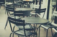 Im Freien von der Kaffeestube Lizenzfreie Stockbilder
