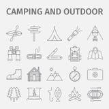 Im Freienerholung Im Freienaktivität Abenteuererholung tourismus Dünne Linie Ikonensatz Auch im corel abgehobenen Betrag Lizenzfreie Stockbilder