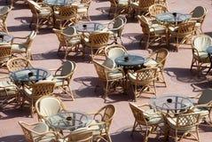 Im Freiengaststätte - die Tabellen Stockbilder