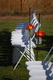 Im Freienhochzeit mit Blumen Lizenzfreies Stockfoto