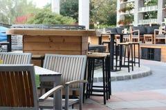 Im Freienkaffee Stockfoto