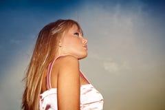 Im Freienportrait Stockfoto