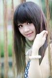 Im Freienportrait des asiatischen Mädchens Lizenzfreie Stockbilder