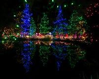 Im Freienweihnachtsleuchten Lizenzfreie Stockfotos