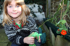 Im Garten arbeitenblume des Kindgartens Lizenzfreies Stockbild