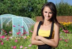 Im Garten arbeitenkonzept Stockfoto
