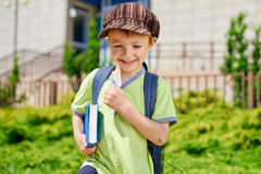 Im Going To School. Young Schoolboy Royalty Free Stock Photos