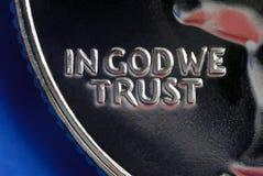Im Gott vertrauen wir Lizenzfreie Stockbilder
