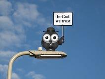 Im Gott vertrauen wir Stockbilder