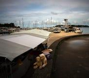 Im Hafen von Porec kroatien lizenzfreies stockfoto