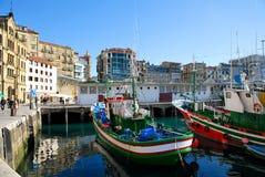 Im Hafen von San Sebastian Stockfotografie