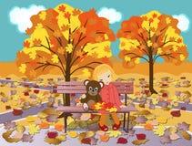 Im Herbstpark Lizenzfreie Stockbilder