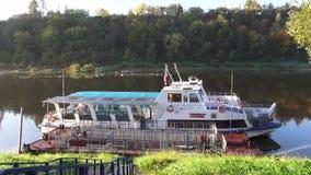 Im Herbstpark Mazurino stock footage