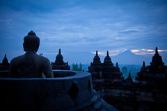 Im het letten op Barabudurï ¼ ŒIndonesia Royalty-vrije Stock Foto