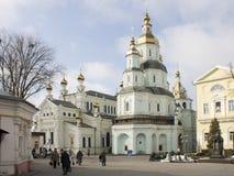 Im Hof eines orthodoxen Klosters Lizenzfreie Stockfotografie