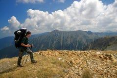 Im hohen Berg Stockfotografie