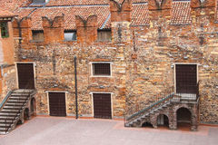 Im innen Hof von Juliets Haus Verona, Italien Stockbilder
