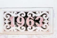 Im Jahre 1963 errichtet Stockbilder