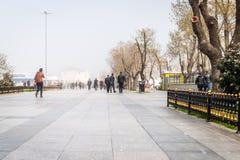 雾im伊斯坦布尔, Kadikoy,土耳其 库存图片