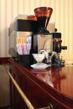 Im Kaffee Stockfoto