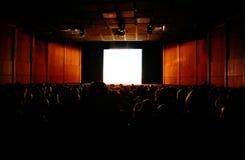 Im Kino Stockbild