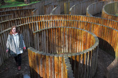 Im Labyrinth Lizenzfreies Stockfoto