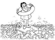 Im Meer der Bürokratie stock abbildung