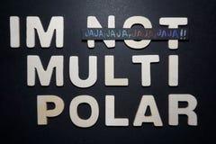 Im niet multi polair stock foto