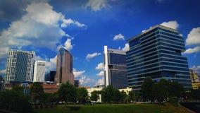 Im Norden Charlotte Skyline Lizenzfreie Stockbilder