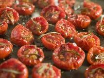 Im Ofen getrocknete Tomaten lizenzfreie stockbilder