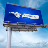 Im Possible billboard Royalty Free Stock Photos
