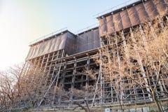 Im Prozess Wiederherstellung/Reparatur/Kiyomizu-deratempelgebäude erneuern lizenzfreies stockfoto
