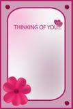 Im que pensam de você cartão cor-de-rosa Imagens de Stock
