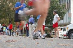 Im Rennen Stockfoto