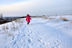Im Schnee Stockfoto