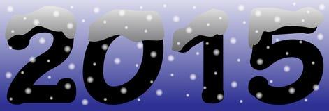 2015 im Schnee-Blau Stockfotos