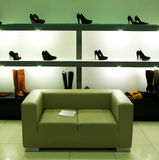 Im Schuhsystem. Stockfotografie