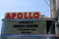 Im Speicher von Michael Jackson Stockfotos