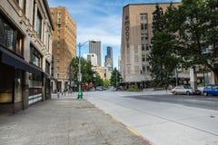 Im Stadtzentrum gelegene 4. Allee Seattles Stockfotografie