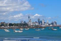 Im Stadtzentrum gelegene Ansicht Aucklands Stockfoto